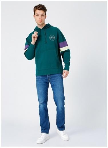 Levi's® Levis Erkek Yeşil Kapüşonlu Sweatshirt Yeşil